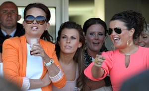 Aintree Ladies Day: Coleen Rooney watches the races at Aintree