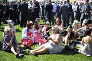 Aintree Ladies Day: Waiting for the first race at Aintree