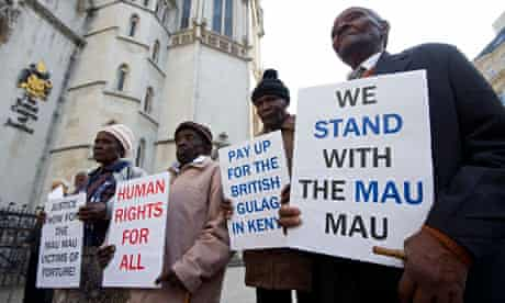 Kenyans protest at the high court