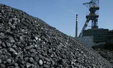 Freshly mined, high quality coal awaits transport in Katowice, Poland
