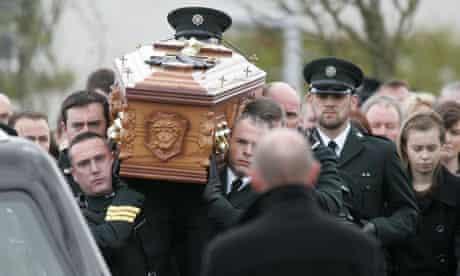 Funeral of PSNI Constable Ronan Kerr, Beragh, County Tyrone, Northern Ireland, Britain - 06 Apr 2011