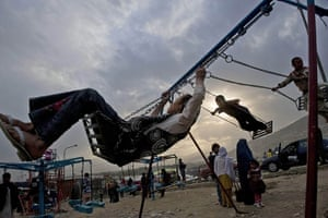 24 Hours in Pictures: Children enjoy their weekend at a park in Kabul