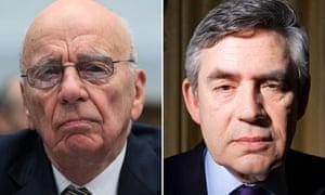 Rupert Murdoch and Gordon Brown composite