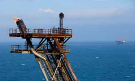 Centrica gas rig in Morecambe Bay