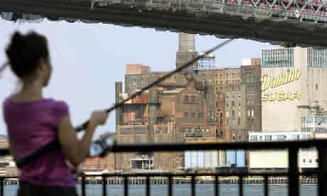 City dwellers learn to fish on Manhattan waterfront