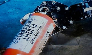 image website of France's BEA inquiry show the orange flight data recorder above the sand