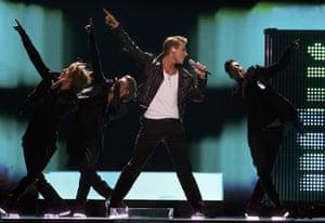 eurovision semi final 1: Russia: Alexej Vorobjov