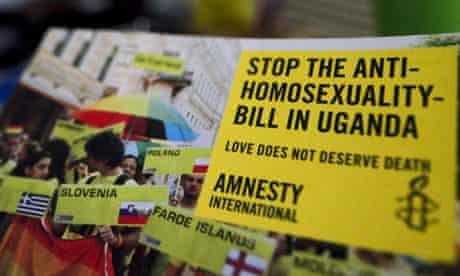 An Amnesty International poster against David Bahati's bill proposing the imprisonment of gay people