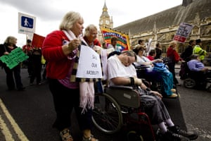 Hardest Hit march: Protesters and carers outside parliament