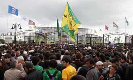 New stadium in Grozny, Chechnya