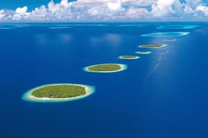 Disappearing world: Baa Atoll in the Maldives.