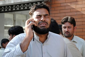 Pakistan Bomb Attacks: A man who lost a family member in the attacks in Pakistan