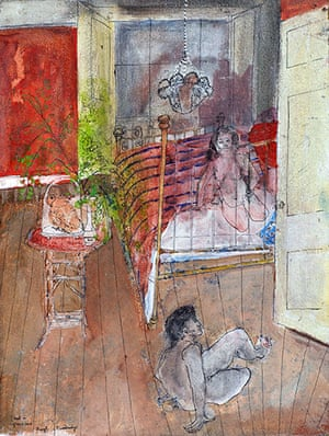 Beryl Bainbridge painting: Owl in Glass Case
