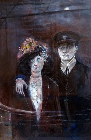 Beryl Bainbridge painting: Captain and mrs Scott