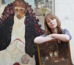 Beryl Bainbridge painting: Jojo Davies at her mother's home, May 2011