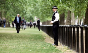 Police cordon off St James's Park after a security alert in central London