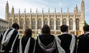 Cambridge students on graduation day