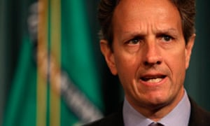 U.S. Treasury Secretary Geithner speaks at a briefing at the Treasury Department in Washington