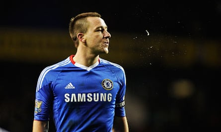 John Terry, the England captain, playing for Chelsea