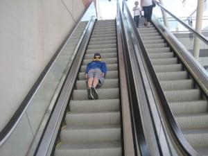 Planking: Planking on a escalator in Brazil