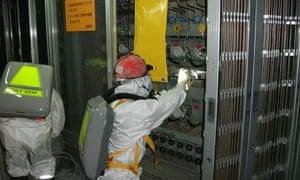Workers at Fukushima Daiichi