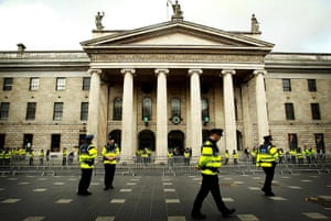 The Queen visits Ireland: Gardai make final preparations outside the General Post Office