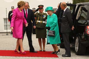 The Queen visits Ireland: Queen Elizabeth II and Prince Philip, Duke of Edinburgh are greeted