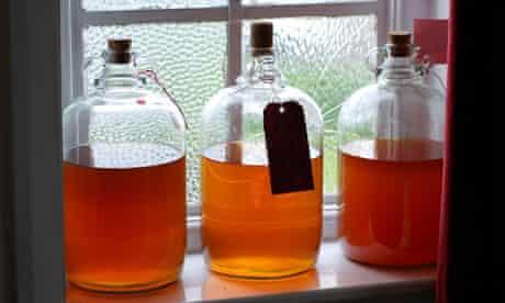 Demijohns of cider