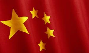 china flag korea