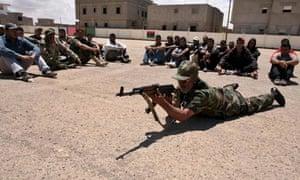 Rebels training in Benghazi