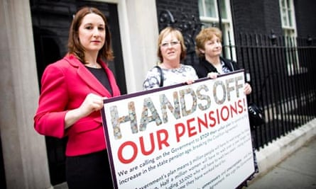 pensions protest london