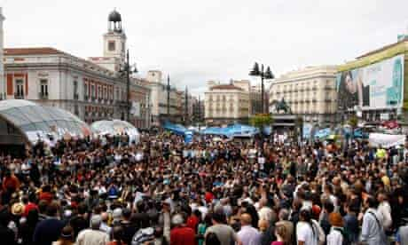 Protest in Madrid's Puerta del Sol, May 2011