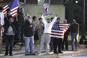 Bin Laden US reaction: Crowds cheer the news of the death of Bin Laden