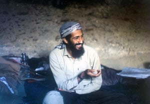 Osama bin Laden: 1988: Osama bin Laden sits in a cave in the Jalalabad region of Afghanistan