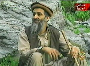 Osama bin Laden: 2003: Al-Qaida chief Osama bin Laden in an undetermined mountain area