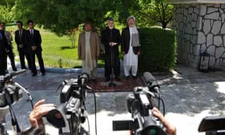 Hamid Karzai Mohammed Qasim Fahim Karim Khalili