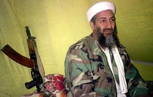 Osama bin Laden: 1998: Muslim militant Osama bin Laden speaks to a group of reporters
