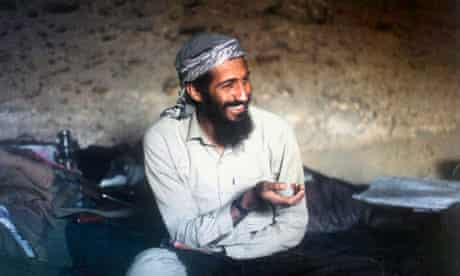 Osama Bin Laden, in a cave while fighting in the Afghan-Russian war