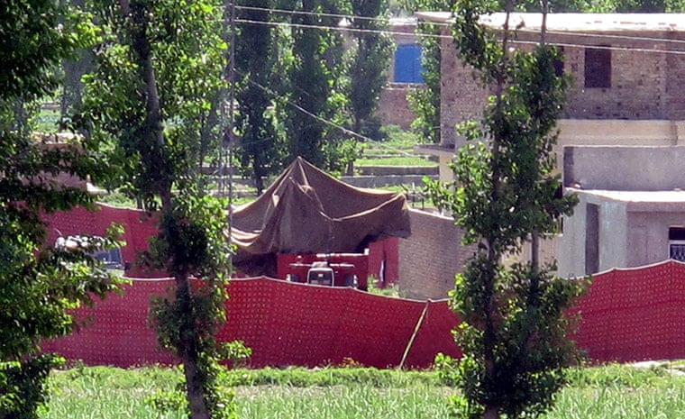 2 May 2011: The Abbottabad compound where Osama bin Laden has been killed by American forces Photograph: Iftikhar Tanoli/EPA