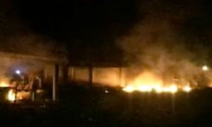 Bin Laden killed: The compound on fire in Abbotabad