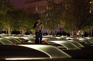 Bin Laden US reaction: People pay their respect to victims of the 9/11 terrorist attacks