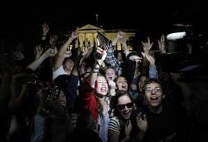 Bin Laden US reaction: Revellers cheer outside the White House in Washington