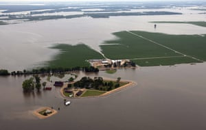 Mississippi floods: The Yazoo River floods farms and homes near Yazoo City, Mississippi