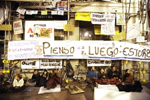 Spain protests: demonstrators occupy Puerta del Sol Square