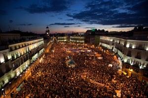 Madrid protests saturday: Puerta del Sol