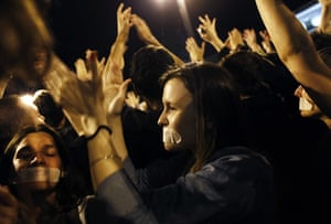Madrid protests saturday: Silenced voices