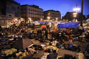 Madrid protests saturday: The camp