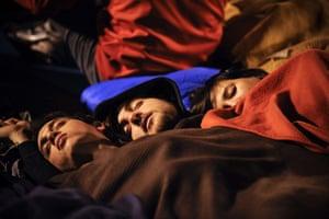 Madrid protests saturday: Sleeping like babies