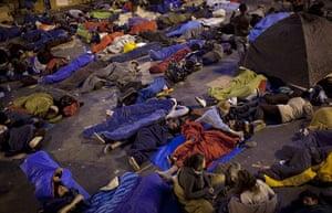 Madrid protests saturday: resting