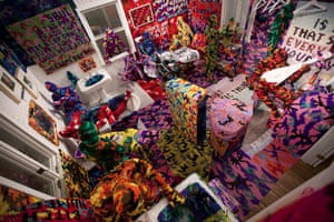 Olek: Knitting is for Pus****
